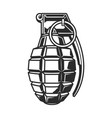 hand grenade in black white colour vector image vector image