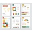 Infographic Brochures Set vector image vector image