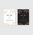 invitation with gold floral elements vector image vector image