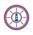 Lighthouse symbol on white vector image vector image