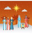 manger epiphany christmas vector image