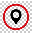 Map Marker Rounded Icon vector image vector image