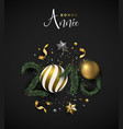 new year 2019 holiday decoration french card vector image vector image