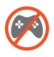 no gamepad symbol design forbidden vector image