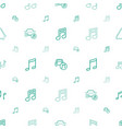 notes icons pattern seamless white background vector image vector image