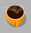 orange cup of coffee vector image vector image