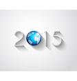 Original 2015 flat style new year modern vector image vector image