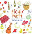Picnic party banner vector image