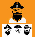 pirate head symbols with skull and crossed bones