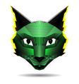 polygonal creative cat drawing in pop art vector image vector image