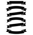 ribbon banner iconflat design vector image vector image