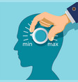 round regulator with a scale in human mind vector image