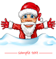 santa claus with snow vector image vector image
