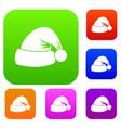 santa hat set collection vector image vector image