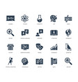 school subjects icon set in glyph style vector image