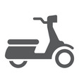 scooter glyph icon vehicle and transport vector image vector image