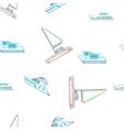 Sea yacht pattern cartoon style vector image vector image