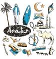 set of tourist attractions arabs