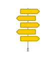 set of yellow signpost vector image