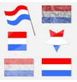 Set with Flags of Luxembourg vector image vector image