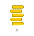 set yellow signpost vector image