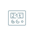 temperature setting linear icon concept vector image