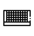 Tennis court net icon outline