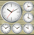 the image of the clock the concept of world time vector image vector image