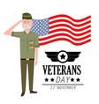 veterans day to celebrate policeman patriotic vector image vector image