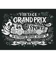 vintage grand prix hand drawn grunge vector image