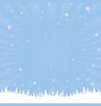 Winter cartoon poster vector image