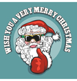 wish you a very merry christmas emblem vector image vector image
