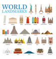 world countries landmarks set vector image