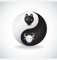 Ying yang bulls vector | Price: 1 Credit (USD $1)
