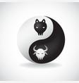 Ying Yang bulls vector image