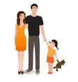 Happy family The smiling people isolated on a vector image