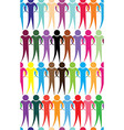 Business team people icon web diagram network vector image