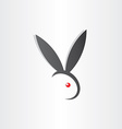 rabbit easter egg icon abstract simple design vector image