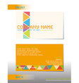 a business card vector image vector image