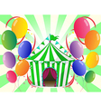 A green circus tent at the center of the colorful vector | Price: 1 Credit (USD $1)