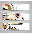 Abstract banner backgrounds vector image vector image