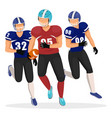 american football game players different teams vector image vector image