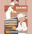 baking process baker bread and desserts