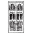 bays of choir architecture of cathedrals in vector image vector image