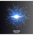 Blue explosion Star burst with sparkles vector image vector image