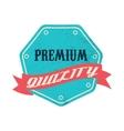 Blue premium quality label vintage style vector image