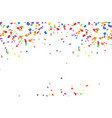 bright colorful confetti background vector image vector image