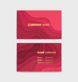 business card template with abstract realistic vector image