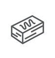 cake square piece pixel perfect icon with editable vector image vector image