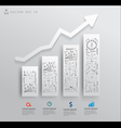 Charts and graphs with drawing business success vector image vector image